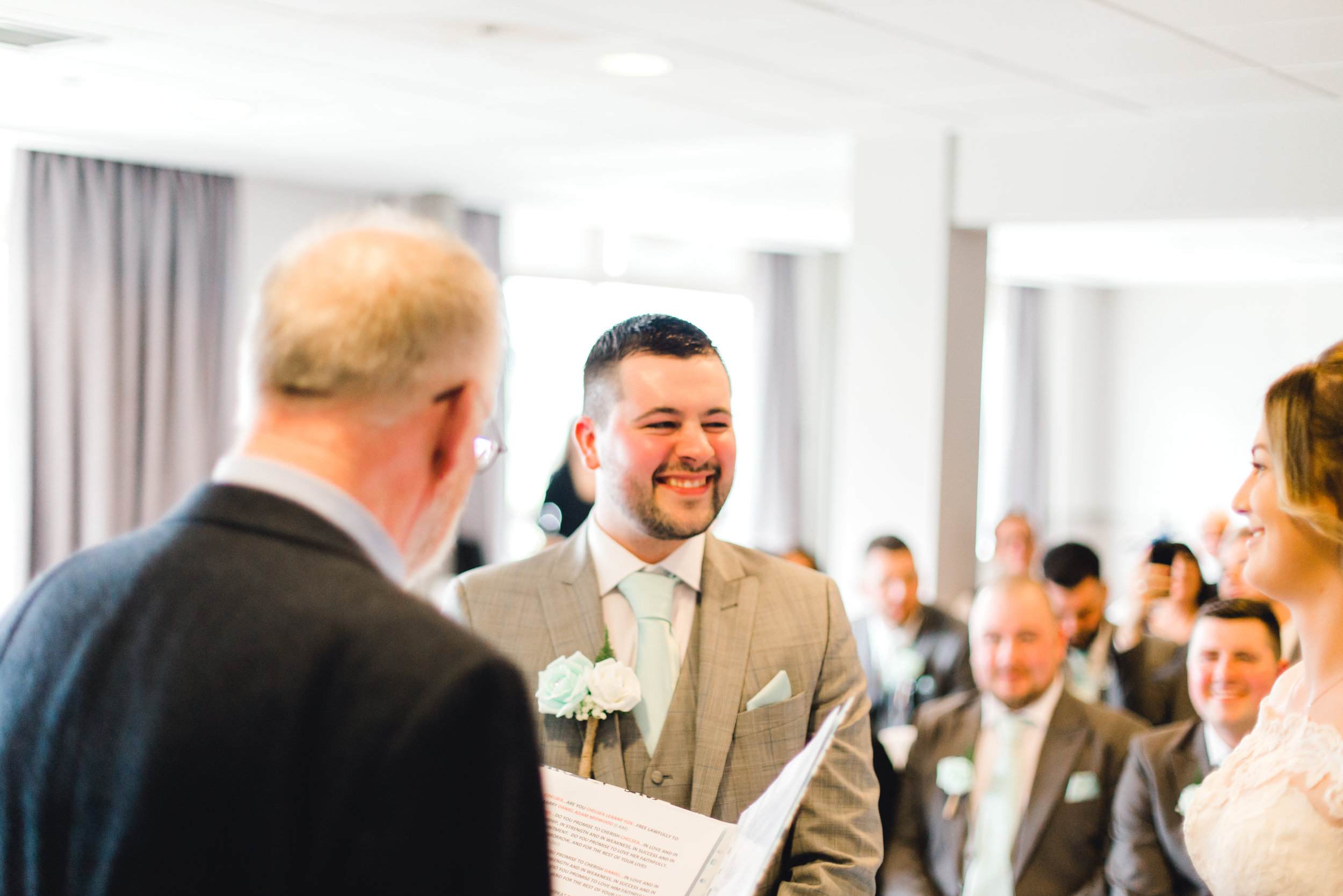 Funny groom slips up during the wedding vows