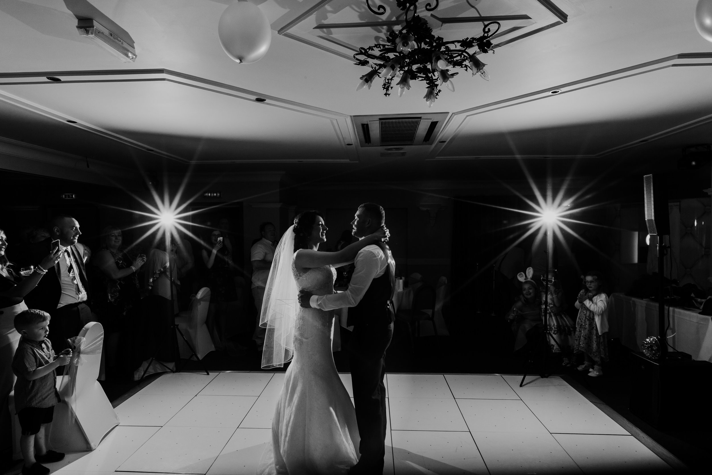 First dance shot of the bride and groom