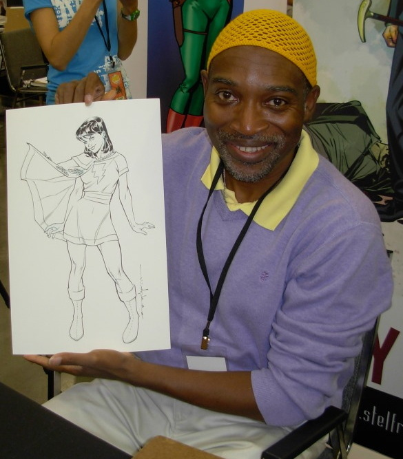 Brian Stelfreeze - Brian Stelfreeze is an American comic book artist, and one of the original members of Atlanta's Gaijin Studios.Known primarily as a cover artist, painting more than 50 covers for DC Comics' Shadow of the Bat, his sequential work includes miniseries Domino for Marvel and Matador for DC's Wildstorm imprint.He is also artist of the 2016 revival of Black Panther with Ta-Nehisi Coates.Take this to get signed: Rummage in your longboxes for some of Stelfreeze's Shadow of the Bat covers.