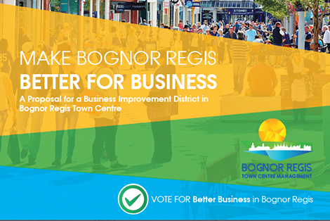 "- ""Bognor Regis is on the up. Businesses confidence is high, demonstrated by investment in the BID, and their premises and their offer.""Paul Wells, Chair of Bognor Regis Business Improvement District"