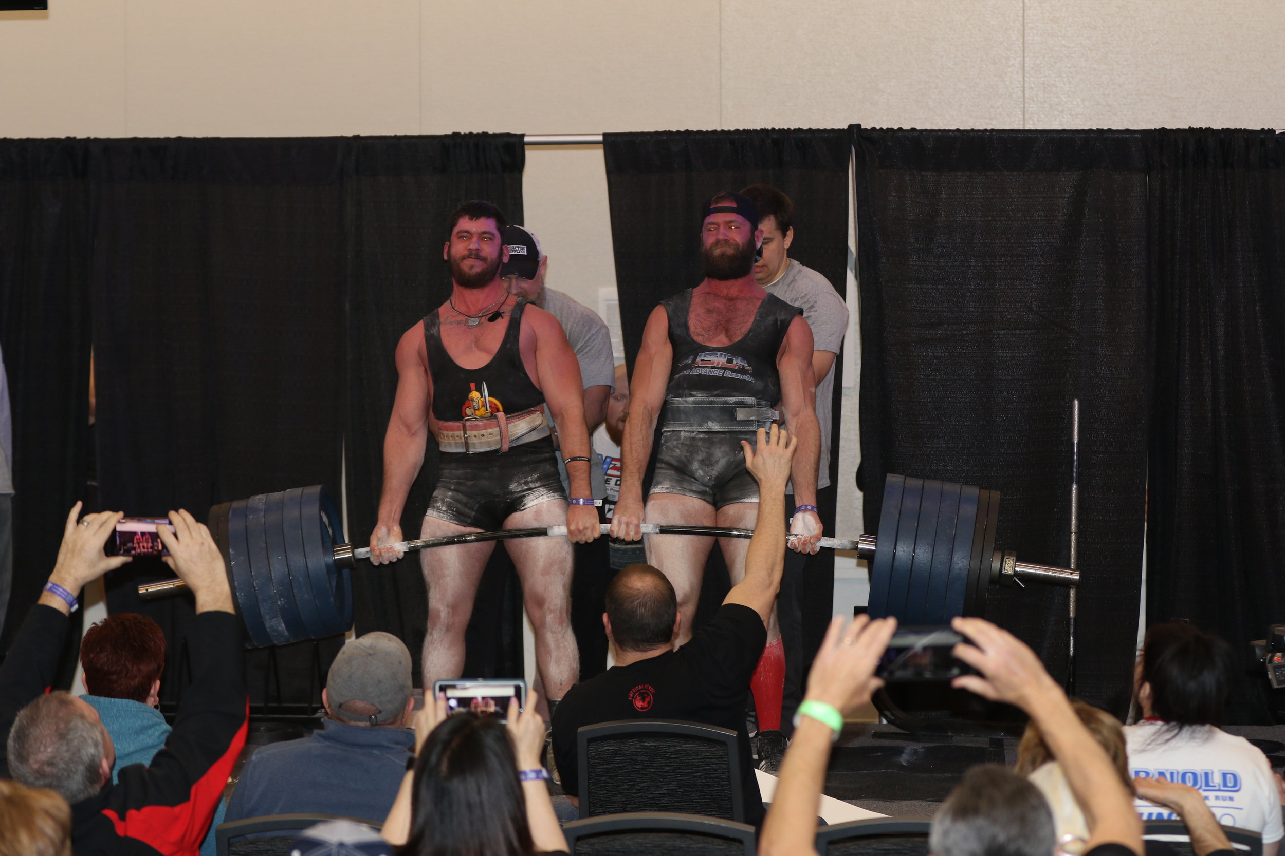 - Mike Baker and  Jeremy Turner pull 1250lbs.
