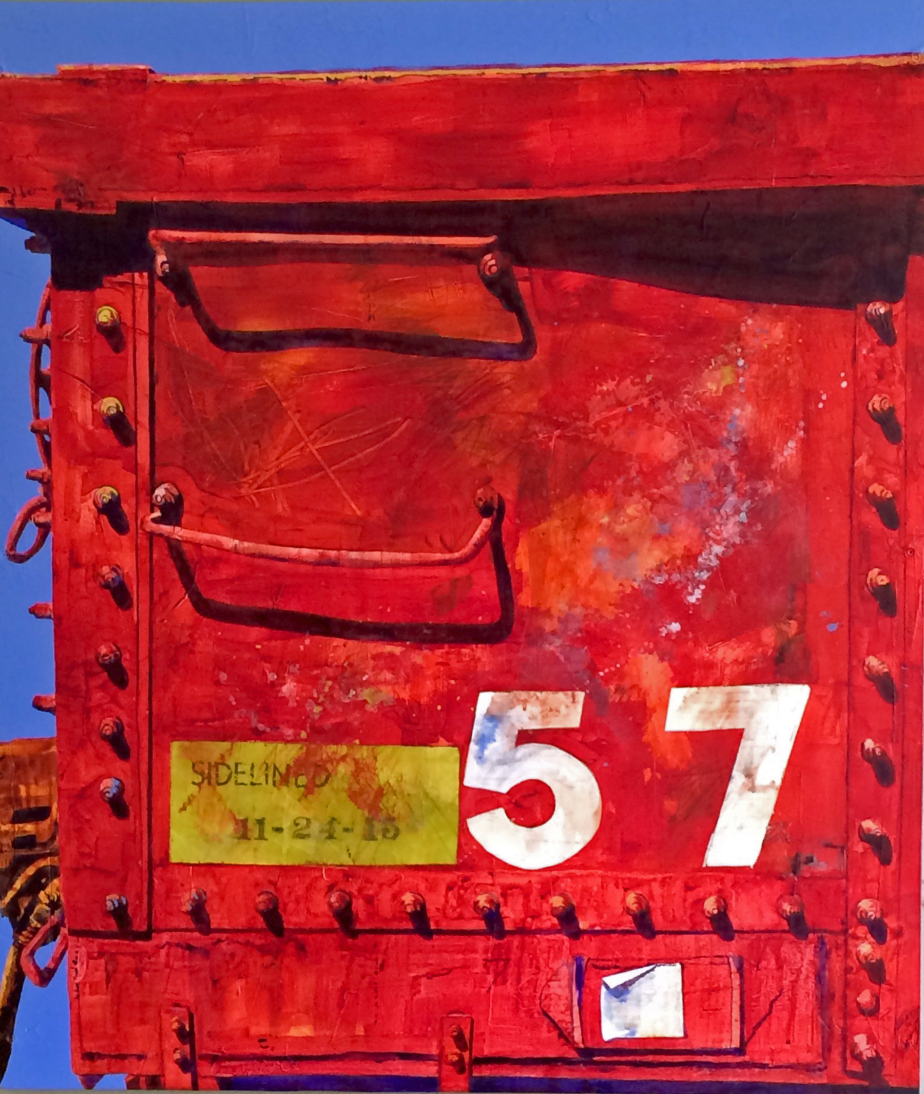 Sidelined Again   2017 Award of Excellence  New River Art Show Floyd, Virginia