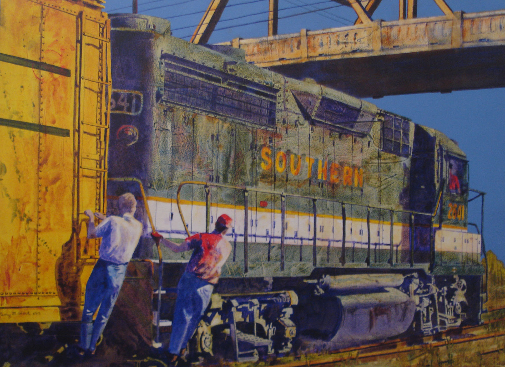 Yard Work   2017 Blick Award  Missouri Watercolor Society St. Louis, Missouri