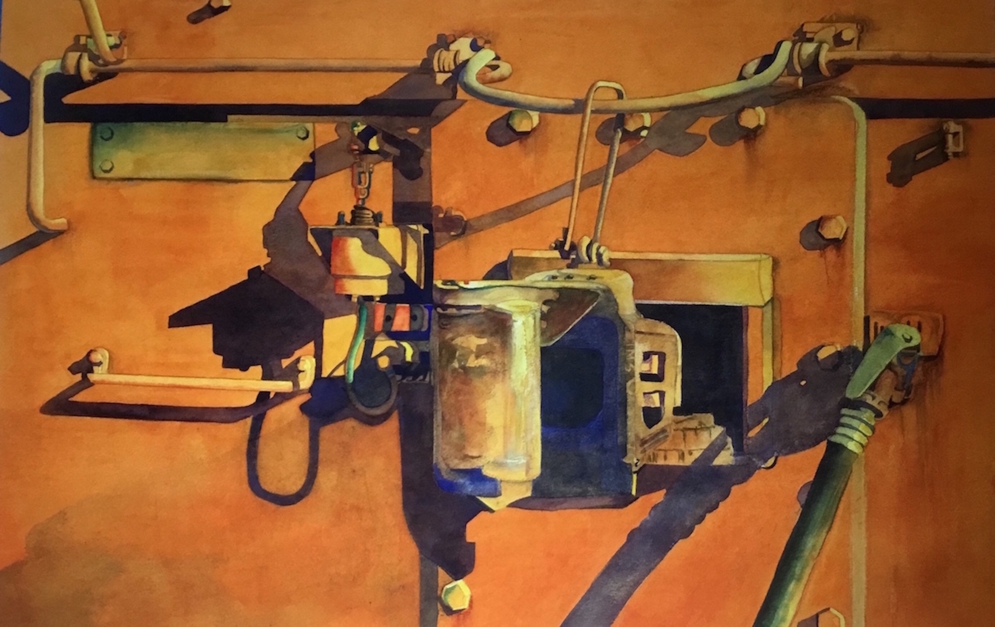 Orange Crush   2018 Blick Art Materials Purchase Award  National Watercolor Society San Pedro, California