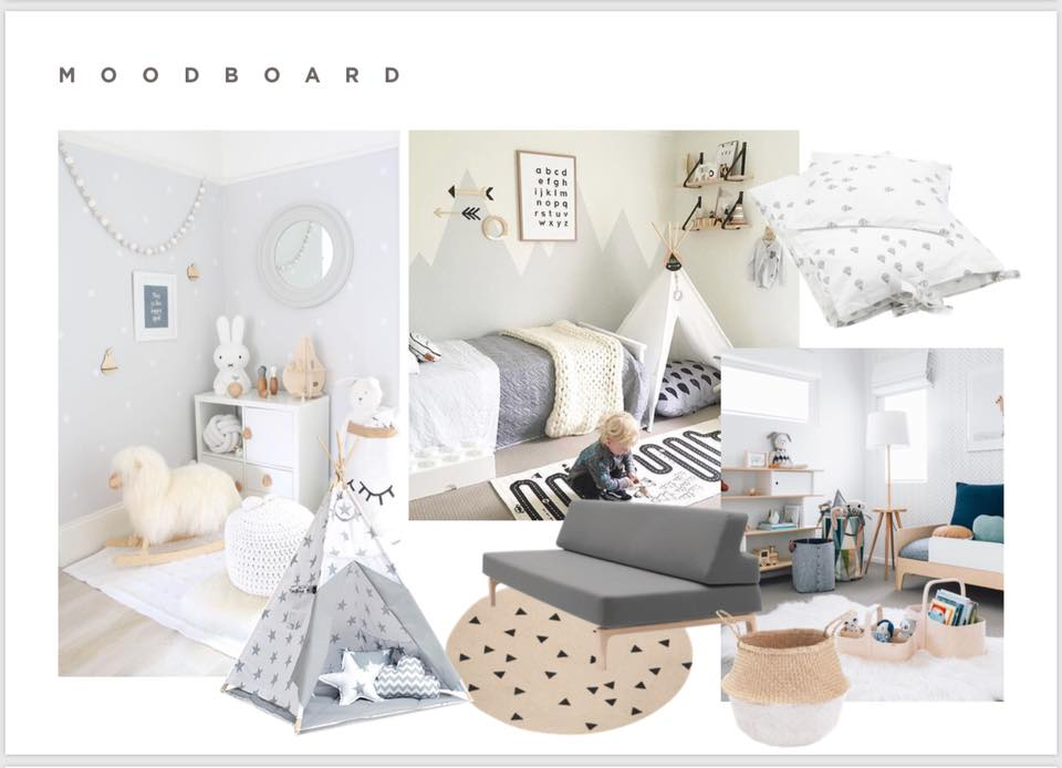 Moodboard to show you the overall look and feel of the room.