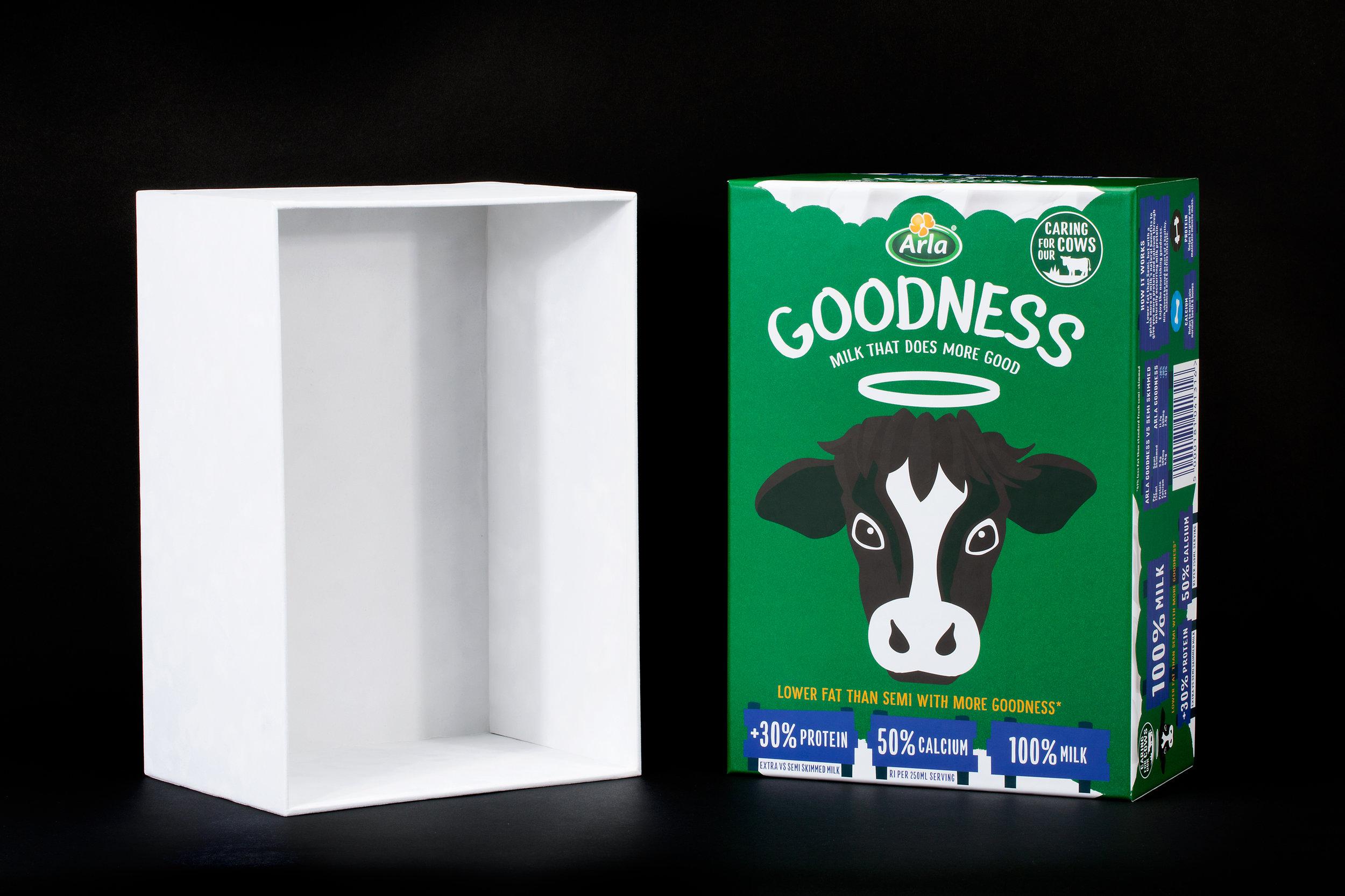 Arla Goodness Box lid and base photo