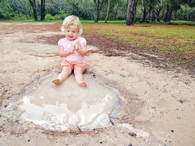 When life gives you puddles, you can fret.  Or you can sit and stay a while.