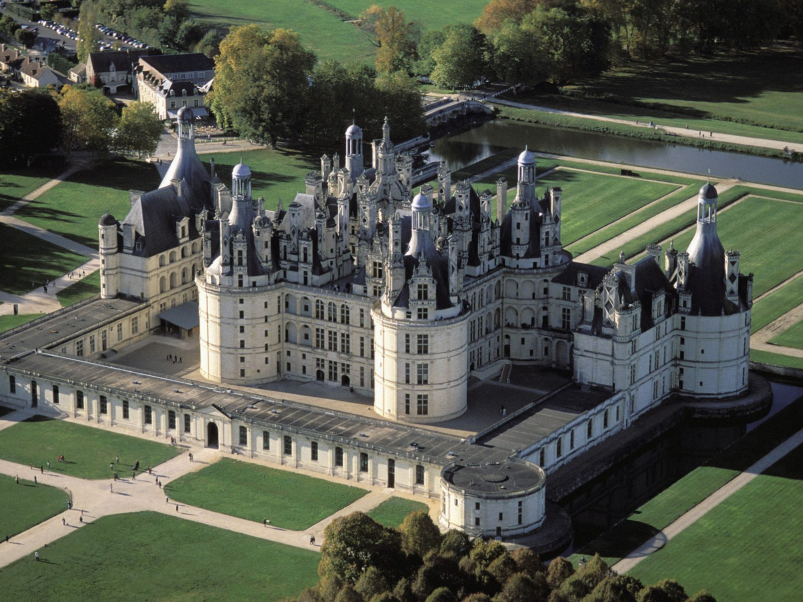 Copy of Chambord Castle in The Loire Valley, France