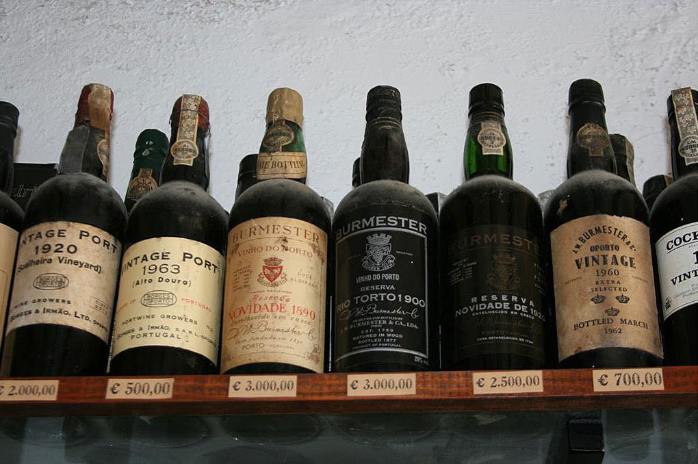 Bottles of vintage Port