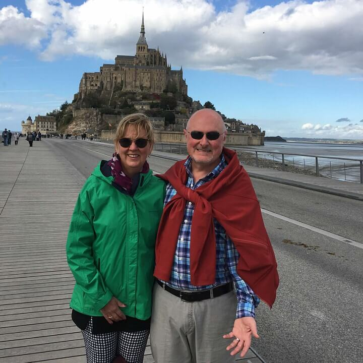 Froggy Travel Travelers at Mont St. Michel in France