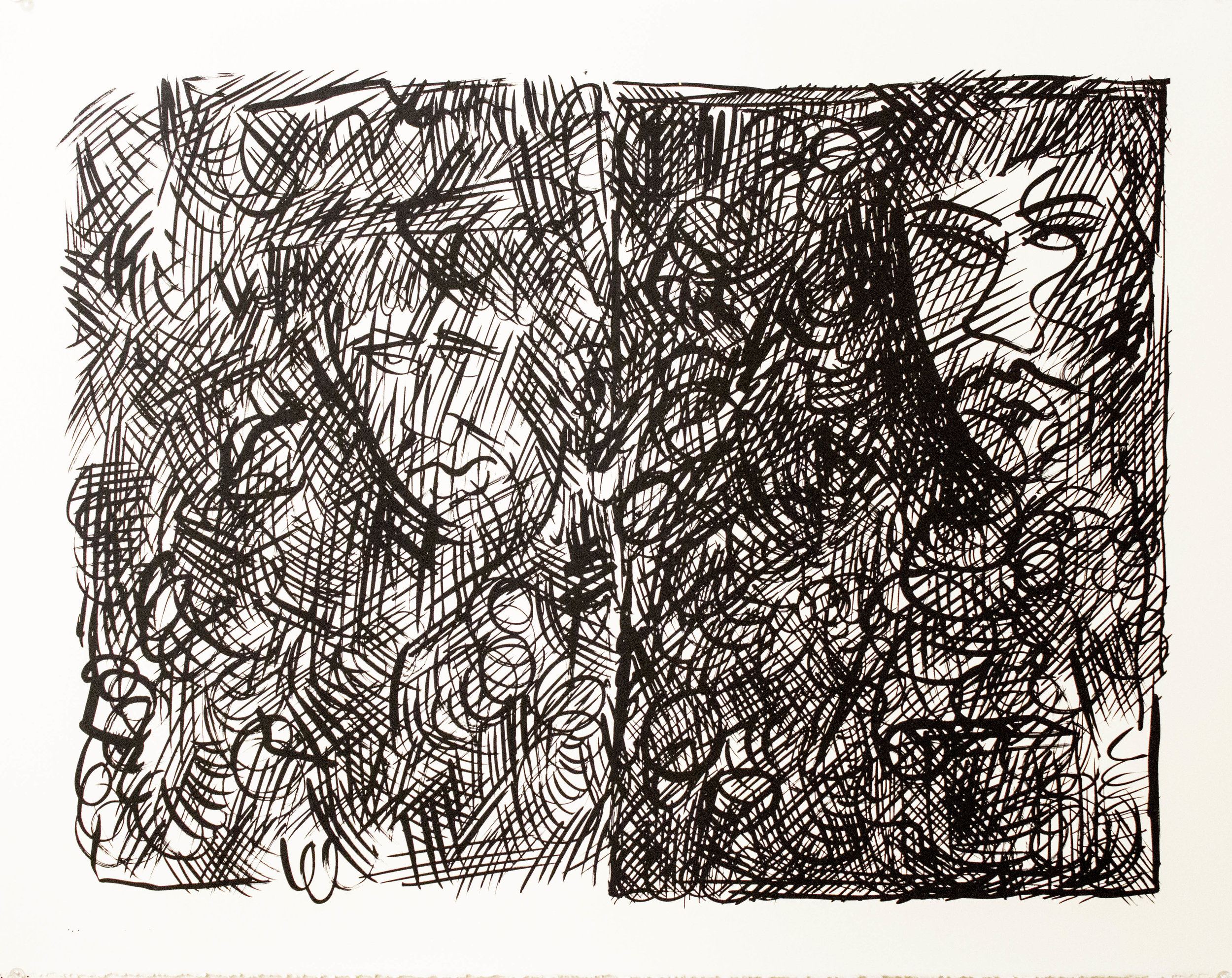 Untitled (Brush and Ink Study)