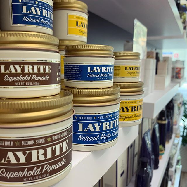 *ANNOUNCING* our MENS line of products!! You asked for it and we appreciate your patience while we found the perfect company to work with 🙋♂️ @layriteofficial - - Available in travel size for $9 and original size for $18. Have questions about which works best for you or your man? We can help 👌 - - - - - #mensgrooming #menshair #pomade #menshair #mensstyle