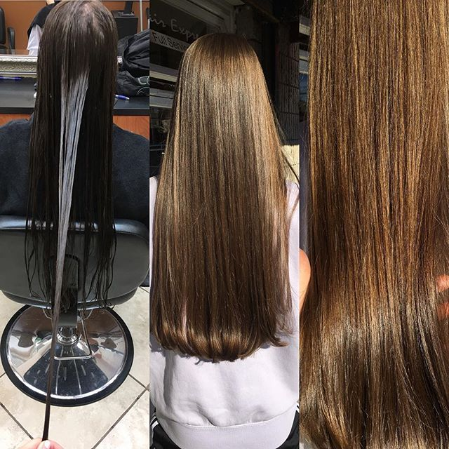 Client came in wating to take off a few inches of dead ends, made a huge difference !! Beautiful cut and straight blowout done by Kim at our annadale location. #lookgoodfeelgood #hairexpress #haironearth #longhair