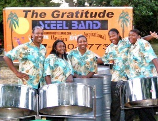"""Gratitude Steel Band   Now in there 30th year, TGSB has an extensive performance record from performing for 1 year old to 100th birthdays. Performing High School Basketball games to playing for """"The Stanley Cup Finals"""" Governors, Congress and Senators, Nelson Mandela and many more"""