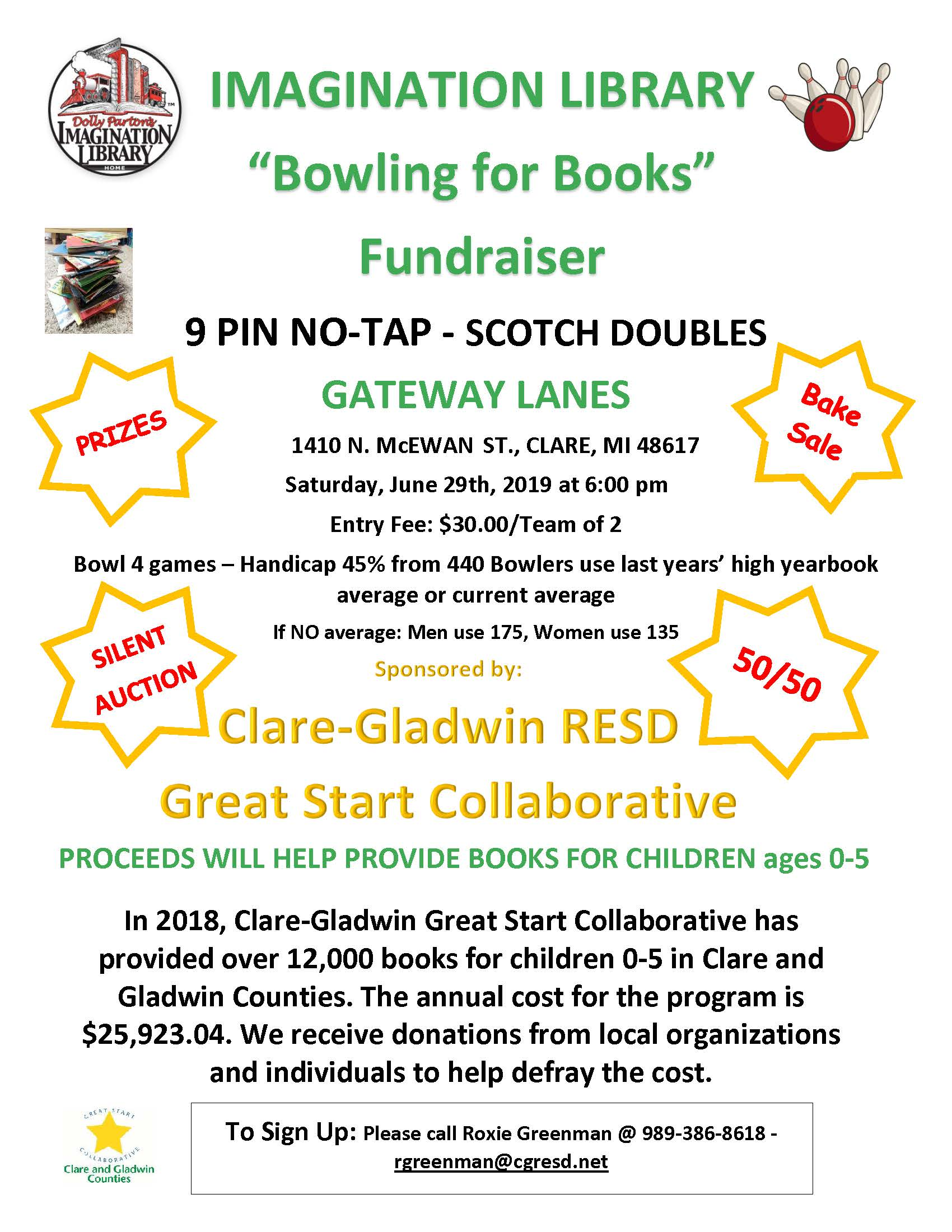 Clare Imagination Library bowling benefit 2019.jpg