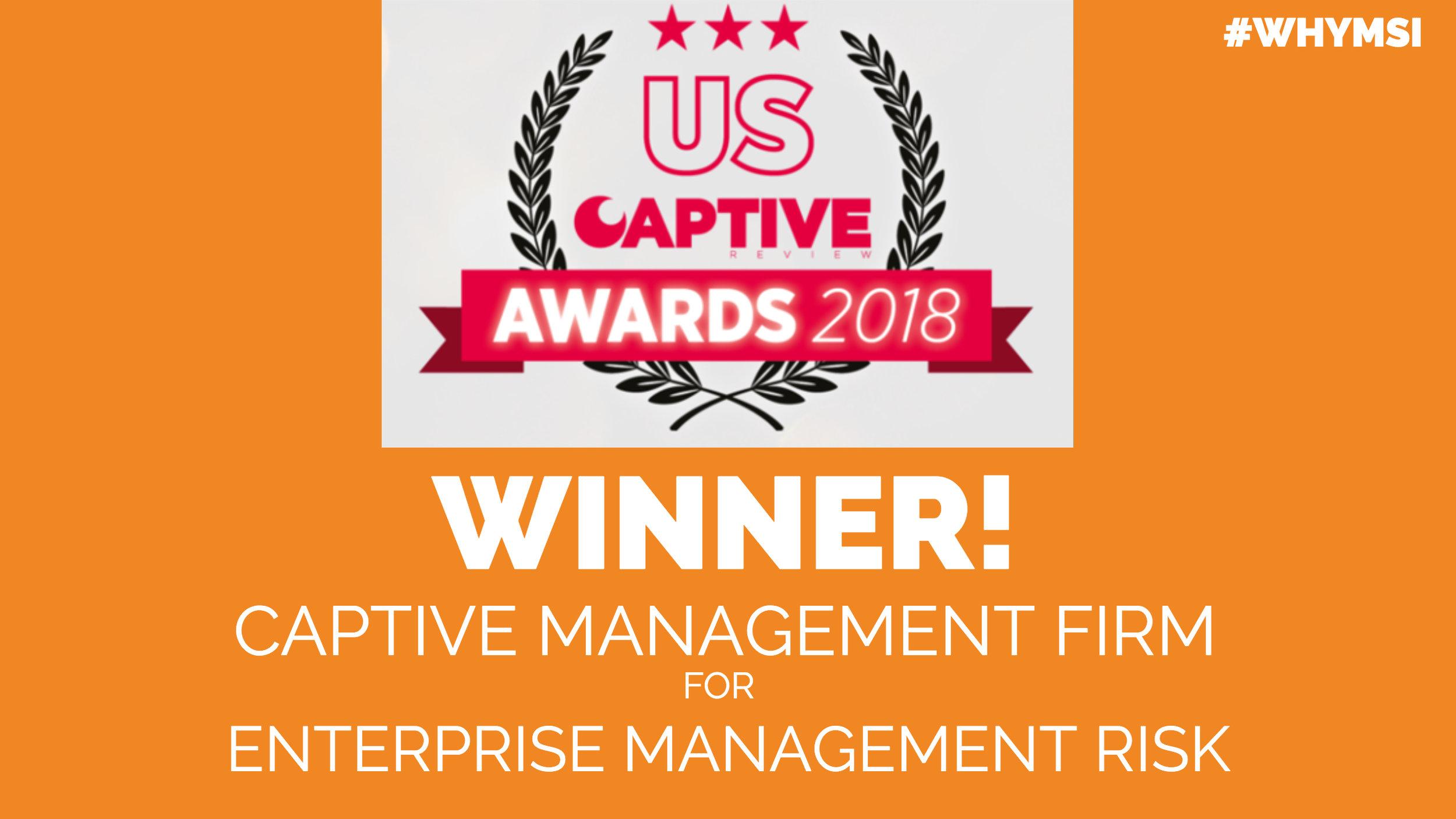 MSI US Captive Awards 2018 Winner for top captive insurance firm for enterprise management risk.jpeg