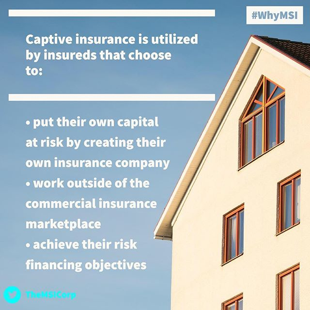 Many use #CaptiveInsurance to do 3 main things:  1️⃣ Create their own private insurance company 2️⃣ Use solutions outside of the traditional marketplace 3️⃣ Achieve risk financing objectives - Tags: #CaptiveInsurance #insurance #risk #riskmanagement #riskmgmt #WhyMSI #insurancenews #business #finance #professionalservices #tax #taxlaw #taxes #risksolutions #privateinsurance #cic #nccia #IRS #smallbusiness #management