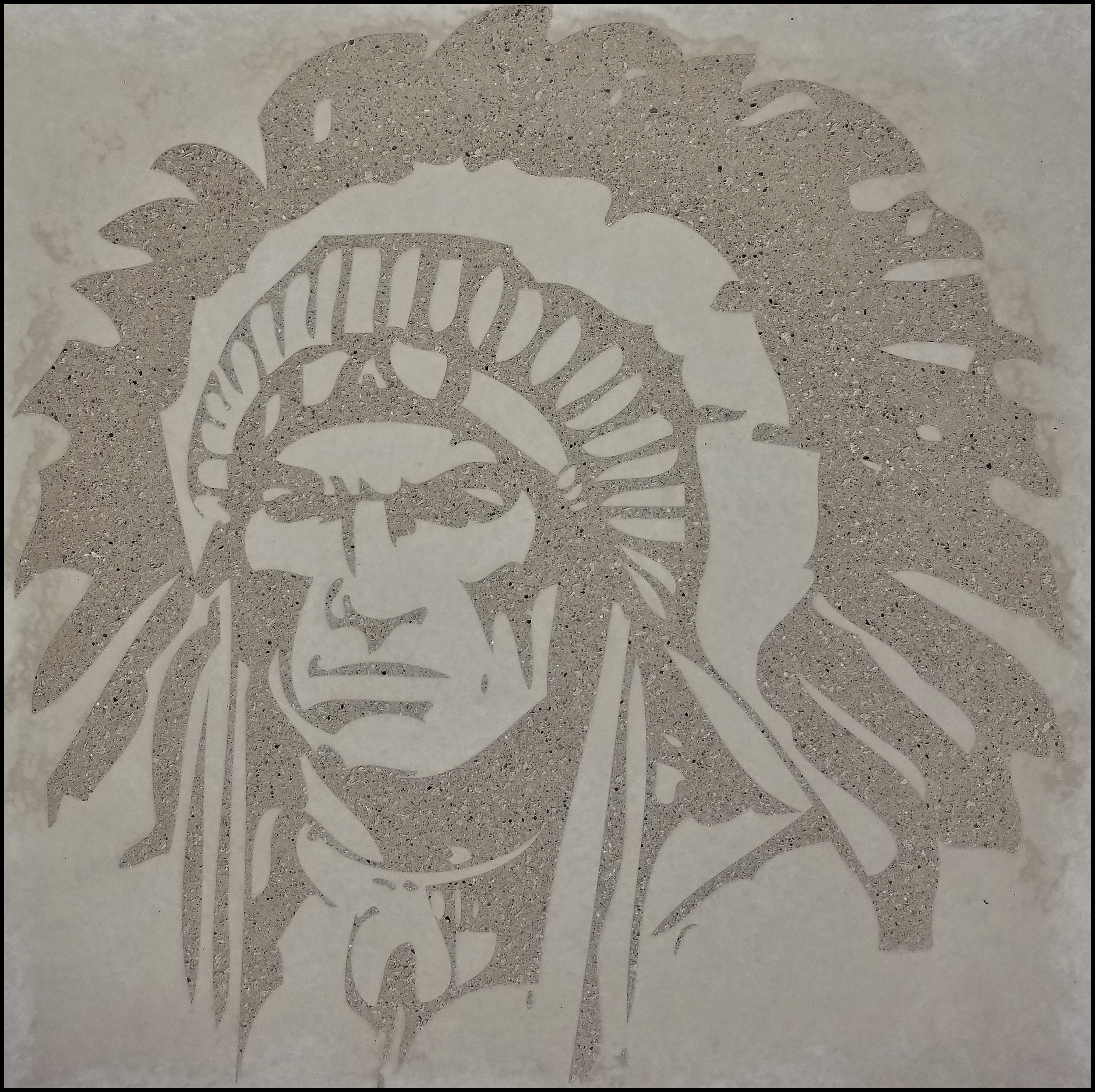 Graphic Concrete at Hononegah High School in Rockton, IL