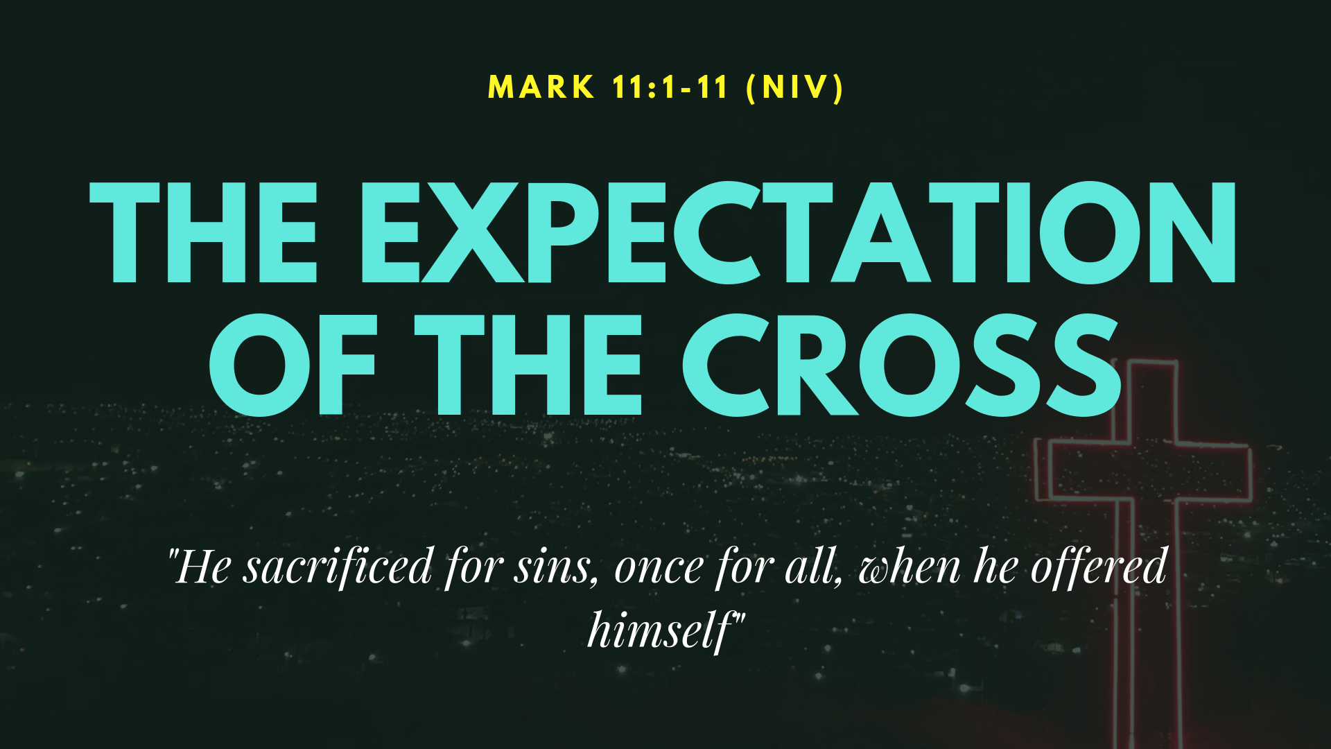 The Expectation of the cross podcast