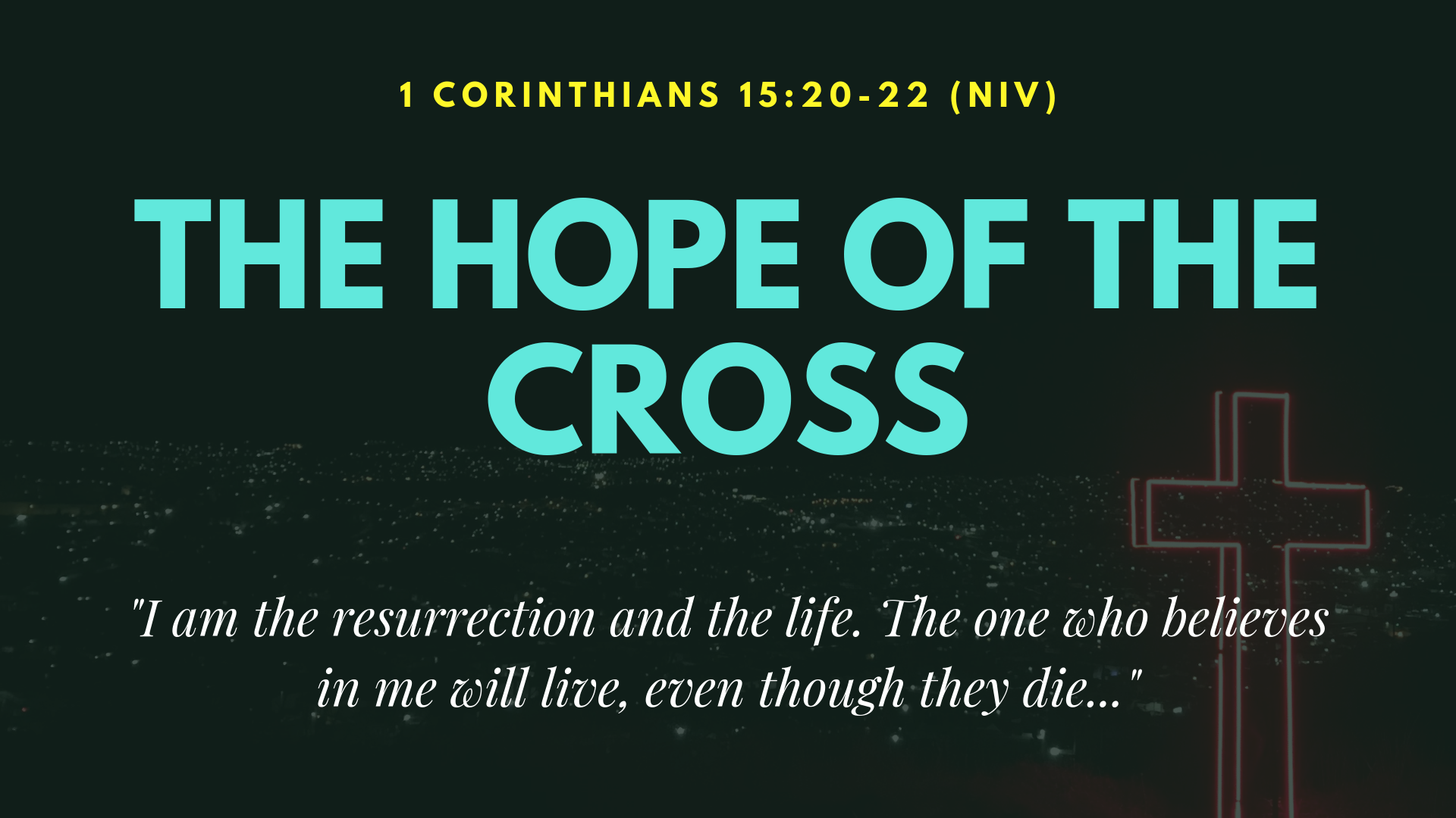 The Hope of the Cross - Falmouth VIneyard
