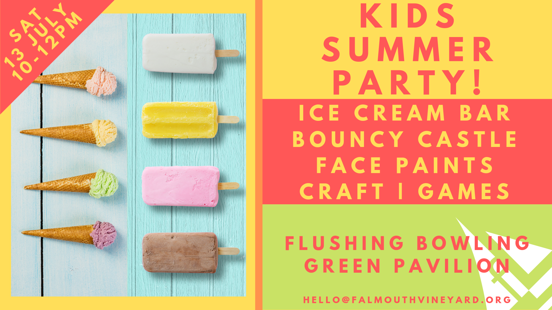 Falmouth Vineyard kids Summer Party 13.07.19