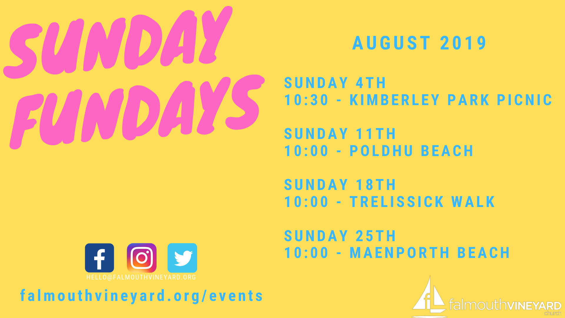 Falmouth Vineyard Sunday Fundays August 2019