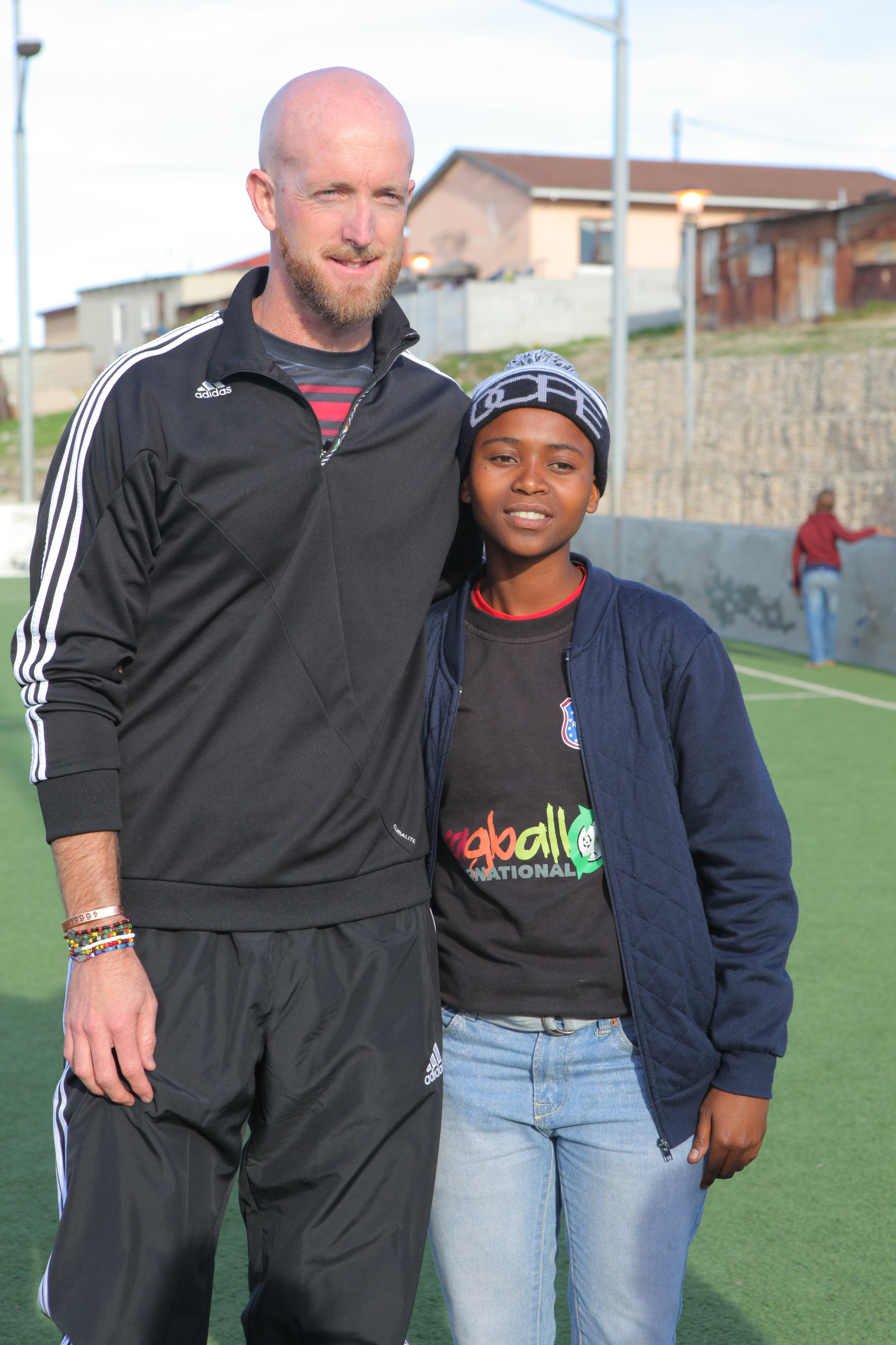 Senior RV player and Ragball artist with South African Bafana Bafana star Matthew Booth