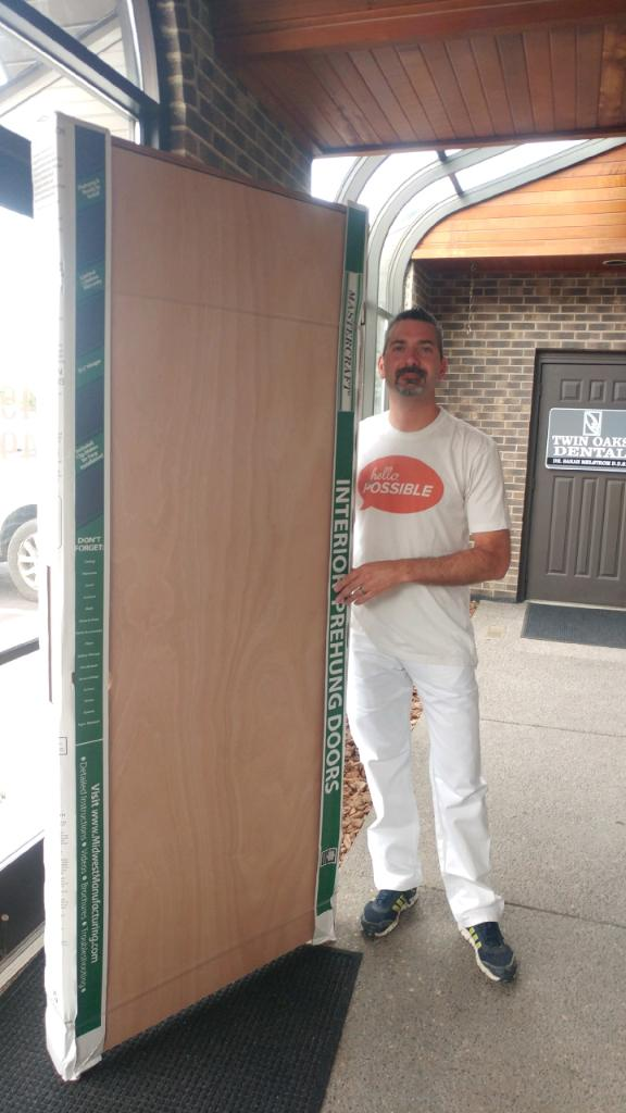 Thanks to Dan Wendt for staining the doors.
