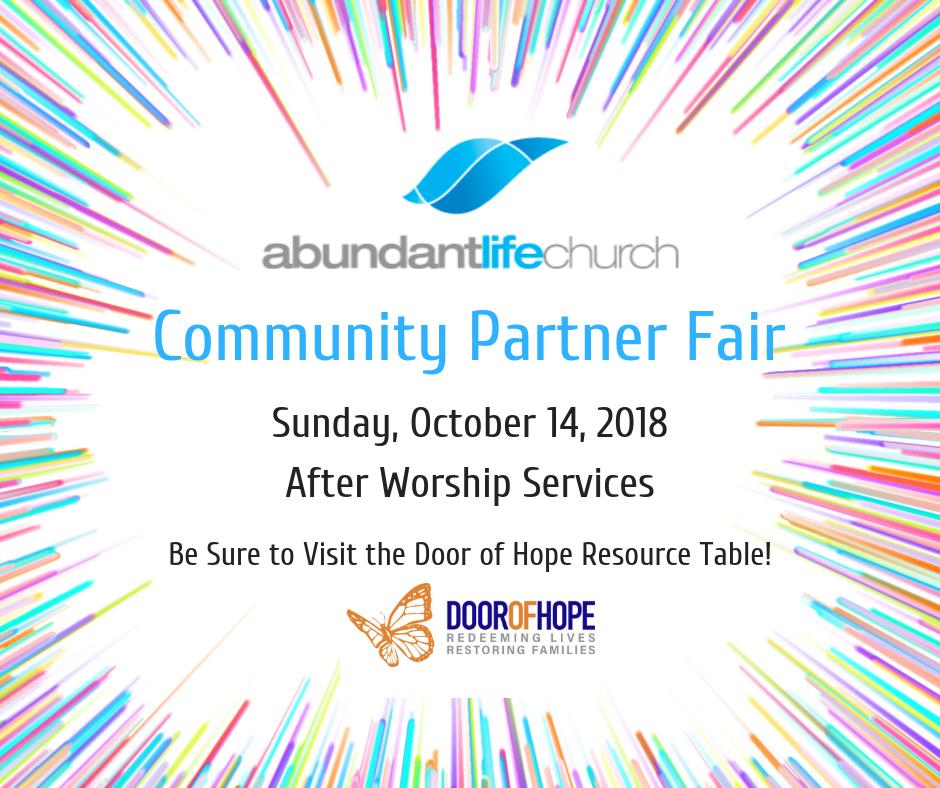 Abundant Life Community Partner Fair