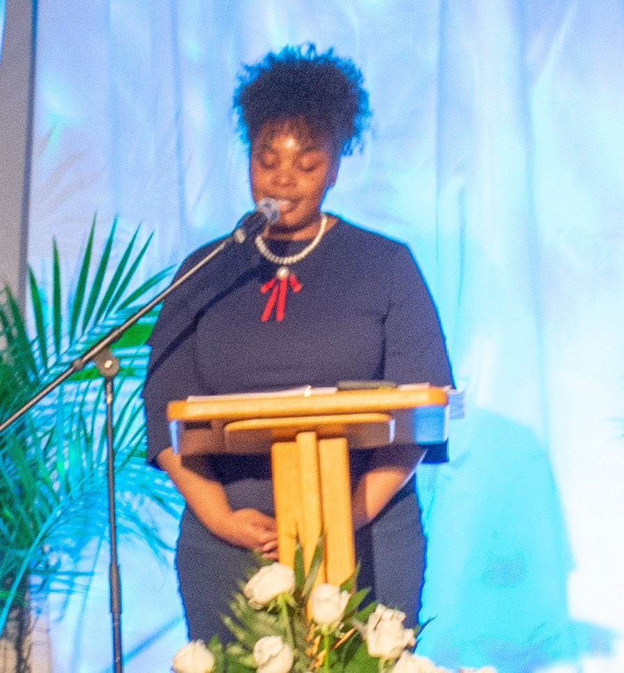 Latanyua Gordon, sharing at our 2019 spring banquet