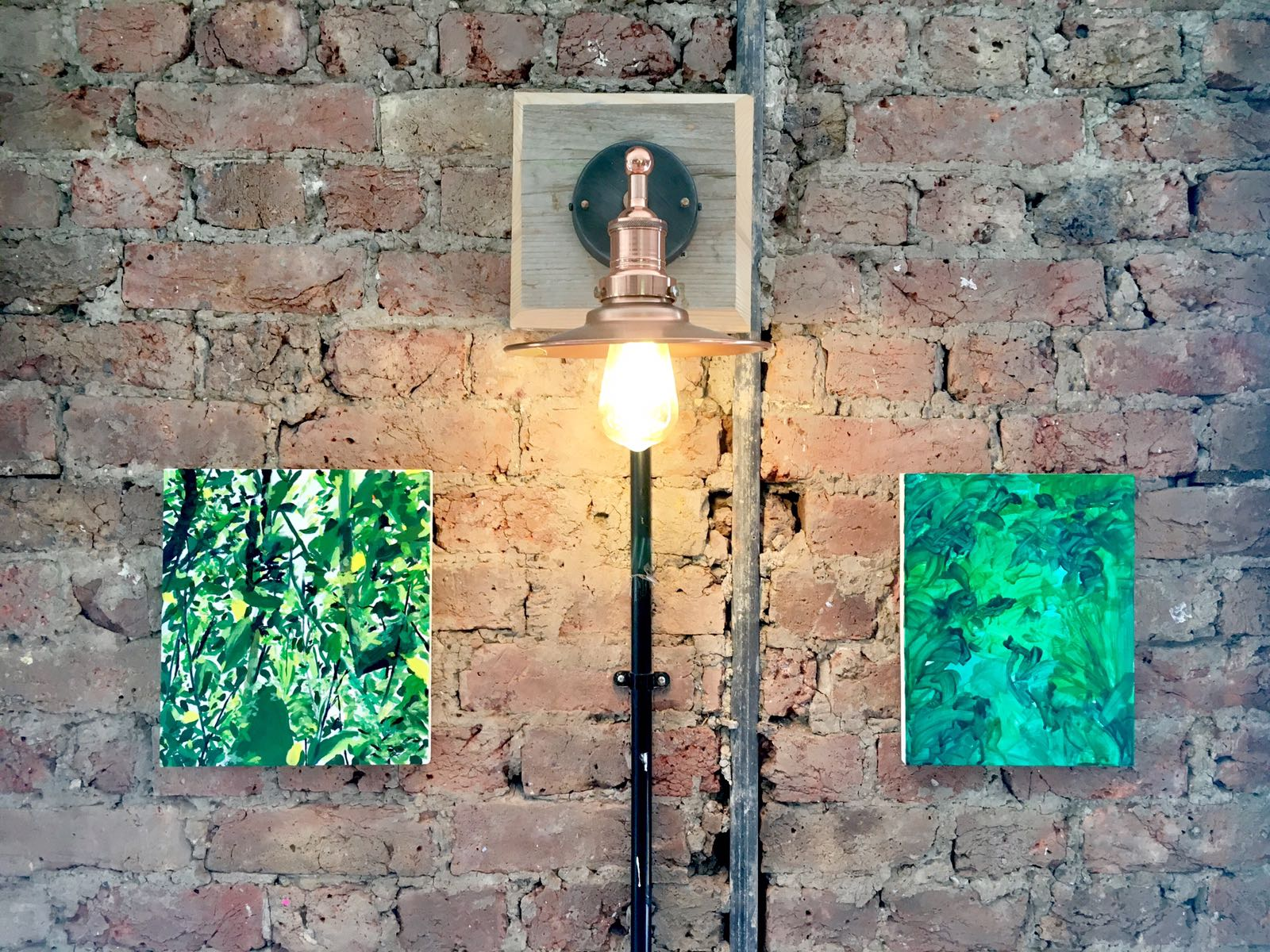 Installation view ( Jungle  and  Vegetation by Diana Palmer)