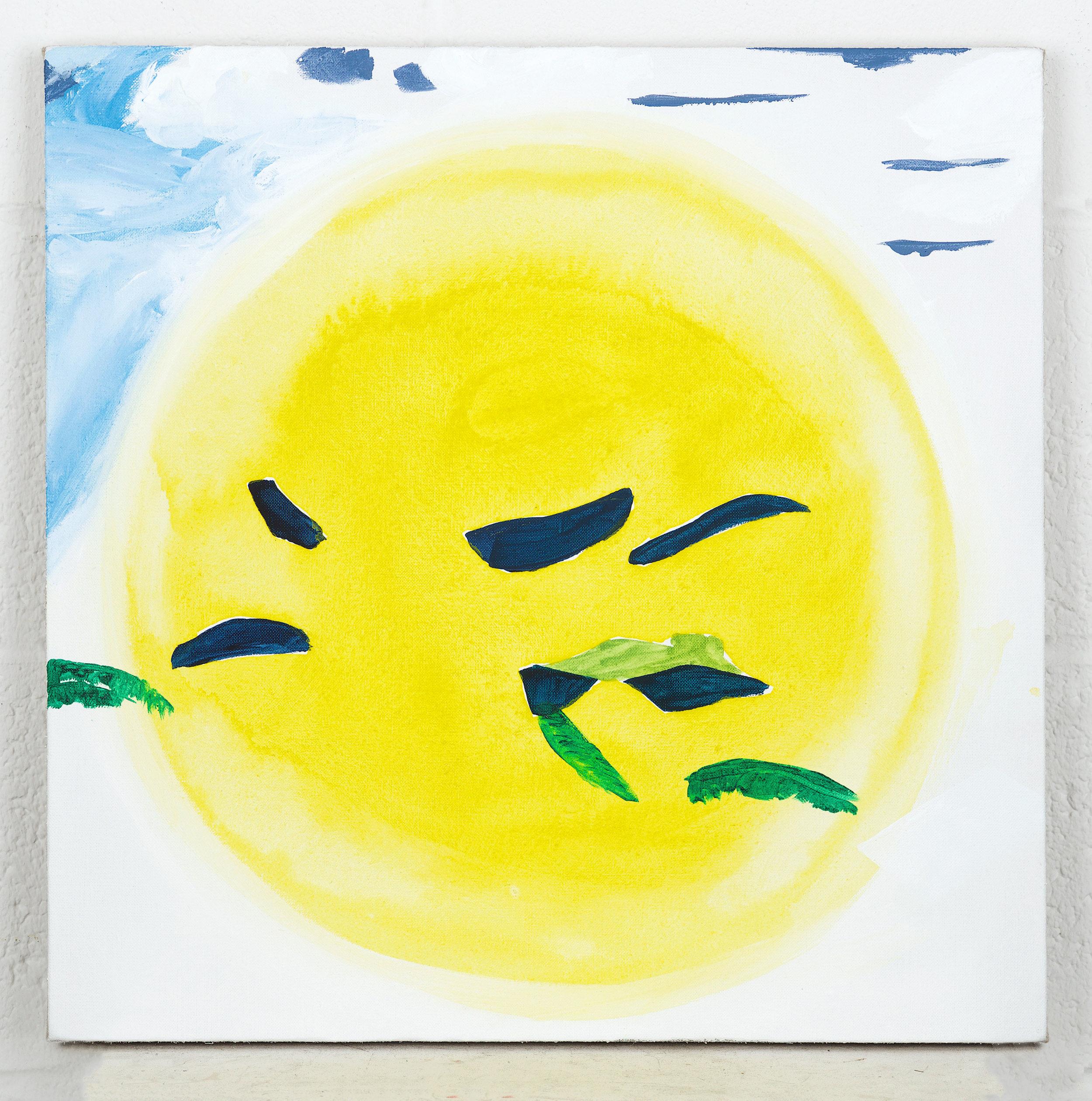 Untitled (Yellow bubble), 2018