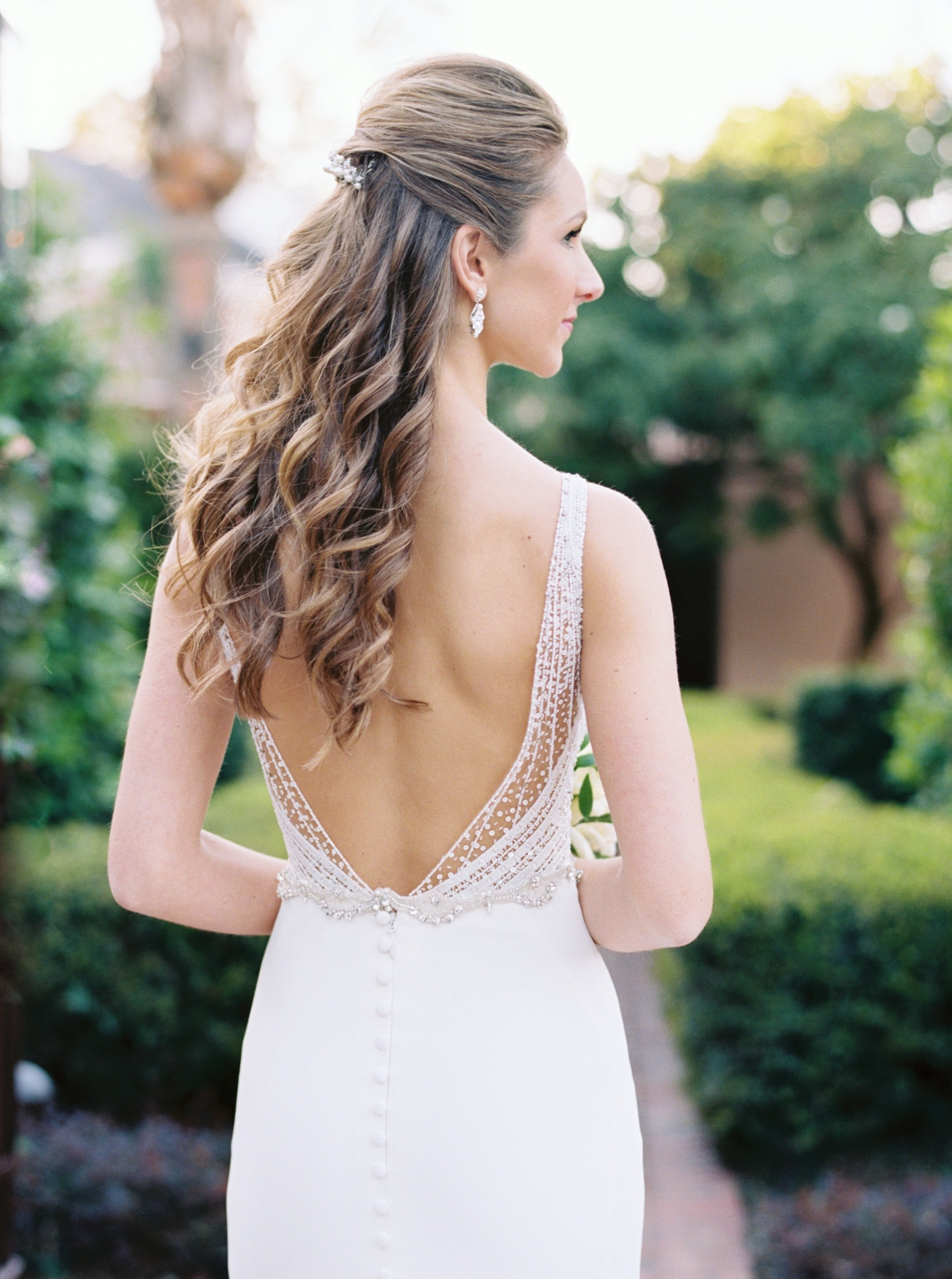 6 half back fine art wedding hairstyles — jenna mcelroy