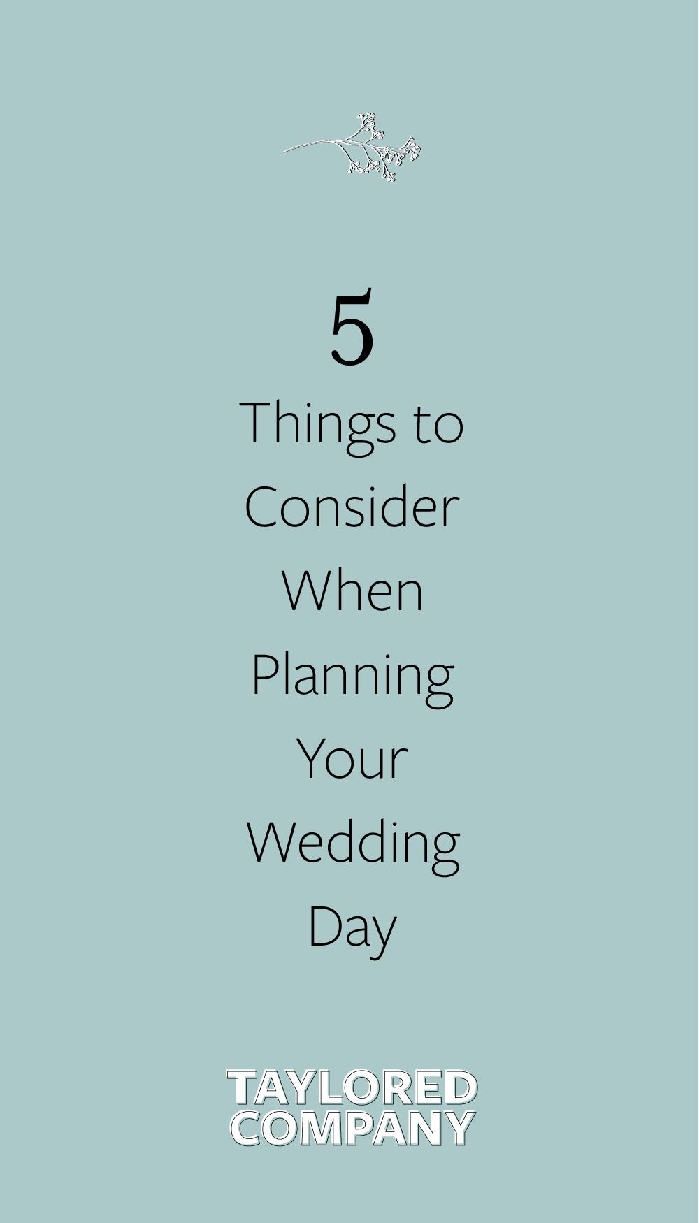 Wedding Timeline Planning Tips