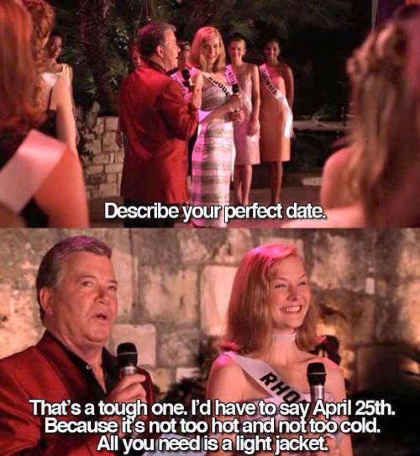 April 25th - The Perfect Date.