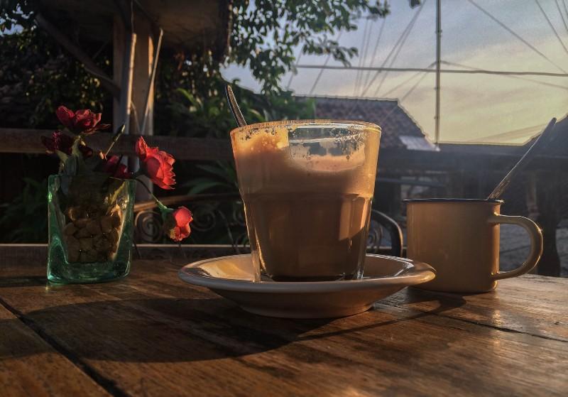 Evening coffee enjoyed in Ubud, Bali