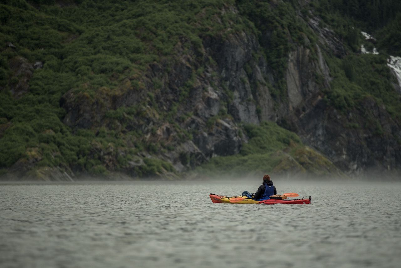 Kayaking Mendenhall Lake