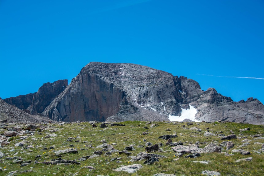 The summit, seen from the boulder field.