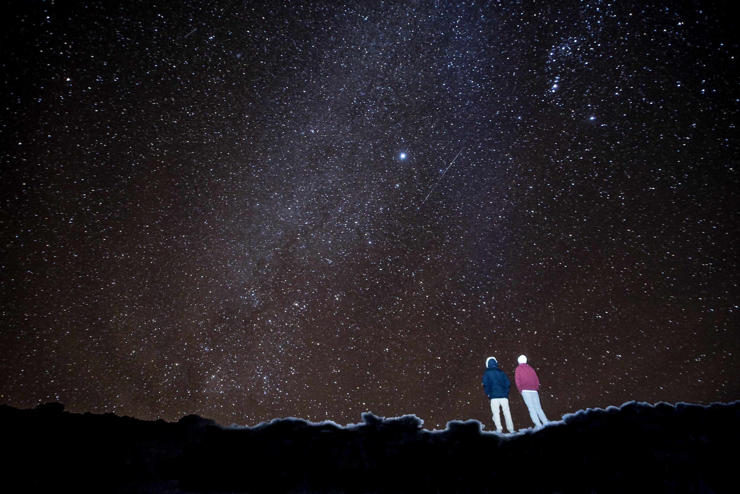 Watching the stars with the bro