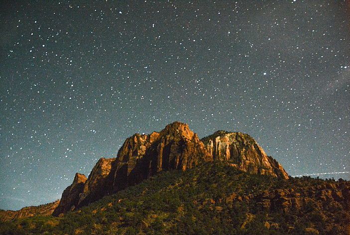 Night sky, as seen in Zion National Park