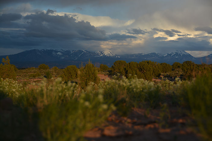 View from my campsite outside of Arches National Park