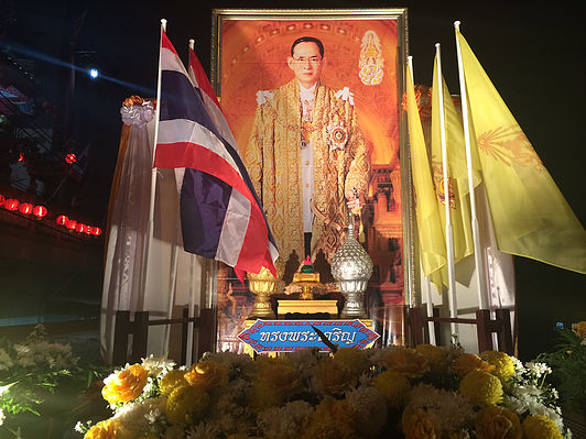 A shrine to the King of Thailand