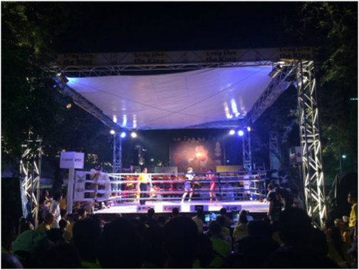 A boxing match to celebrate the king's birthday