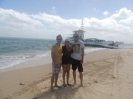 Me, Lauren, and Chris on Fraser Island