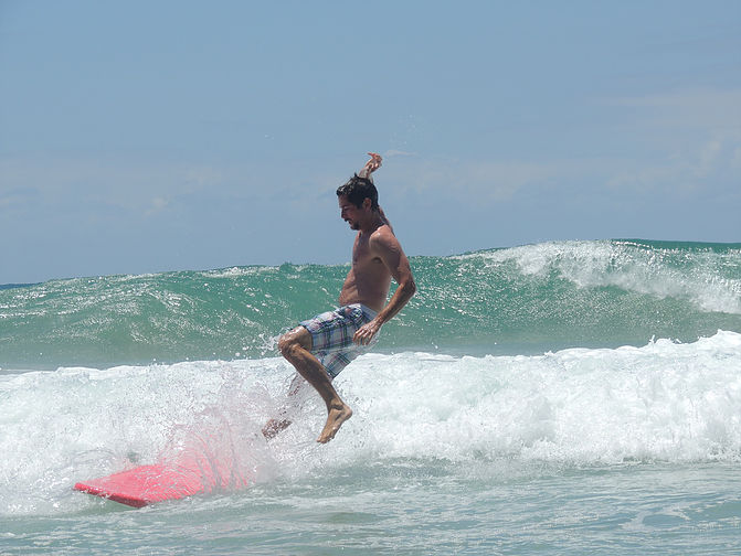 Mastering the one-footed surf