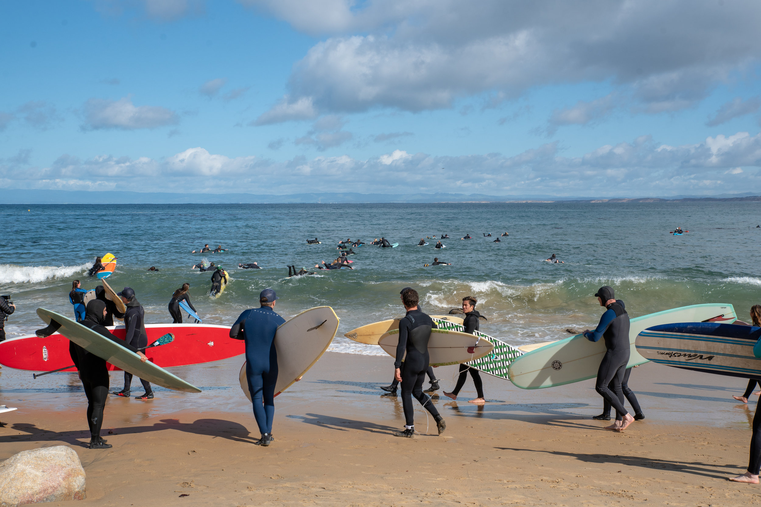Of more than 100 protesters from the Monterey Peninsula and Santa Cruz who turned out on Feb. 10, about 75 paddled or kayaked.