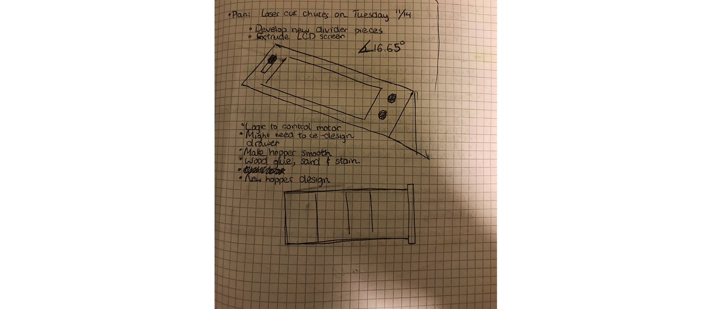 Revised LCD Housing - By creating this angular design for the screen, the user can press the buttons easier than before and it creates less glare on the screen when in direct light.