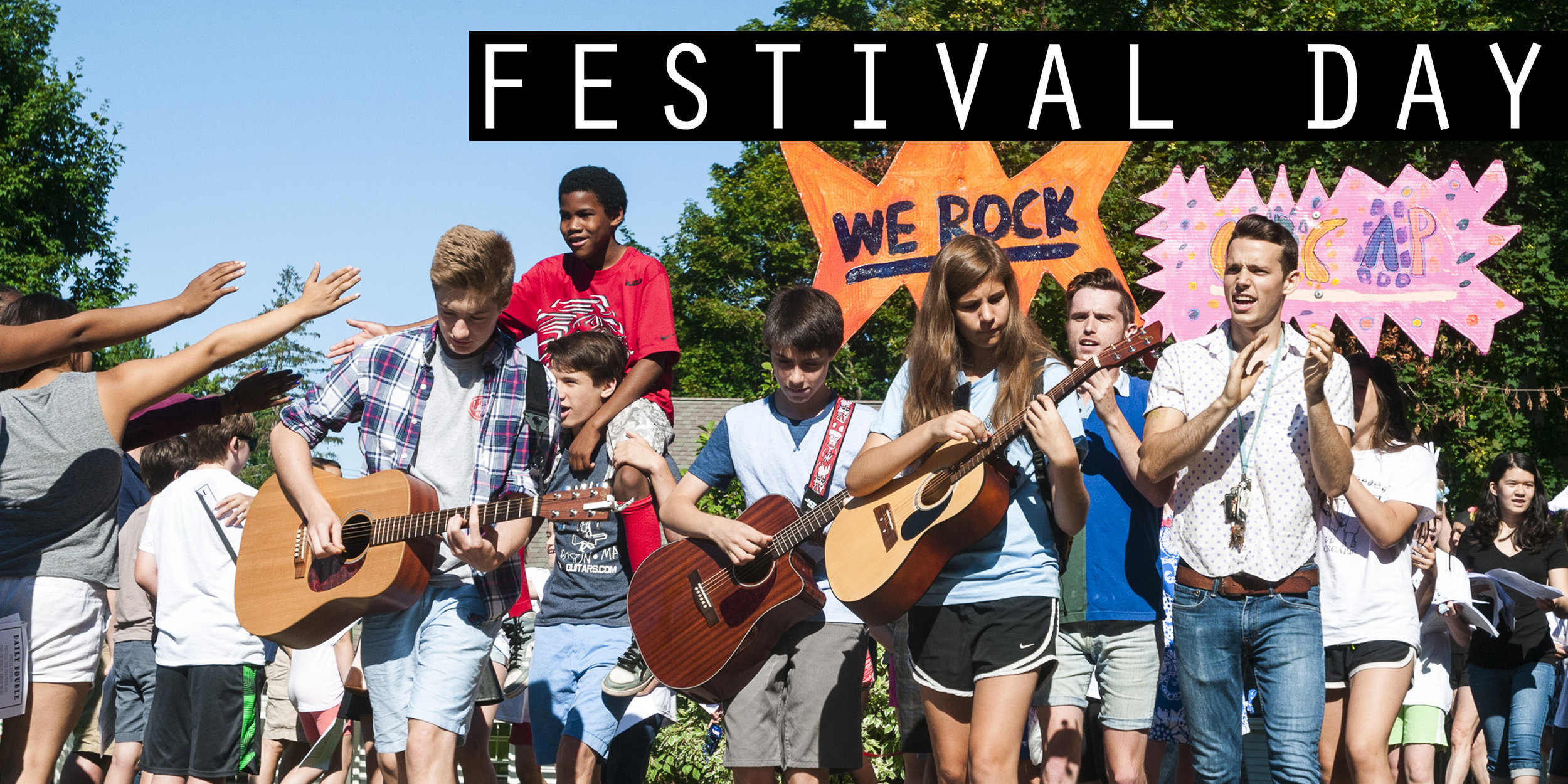 - At the end of each session we welcome friends and family to attend Festival Day. Performances, video screenings,  and art galleries showcase the talent, creativity, and determination of our campers.