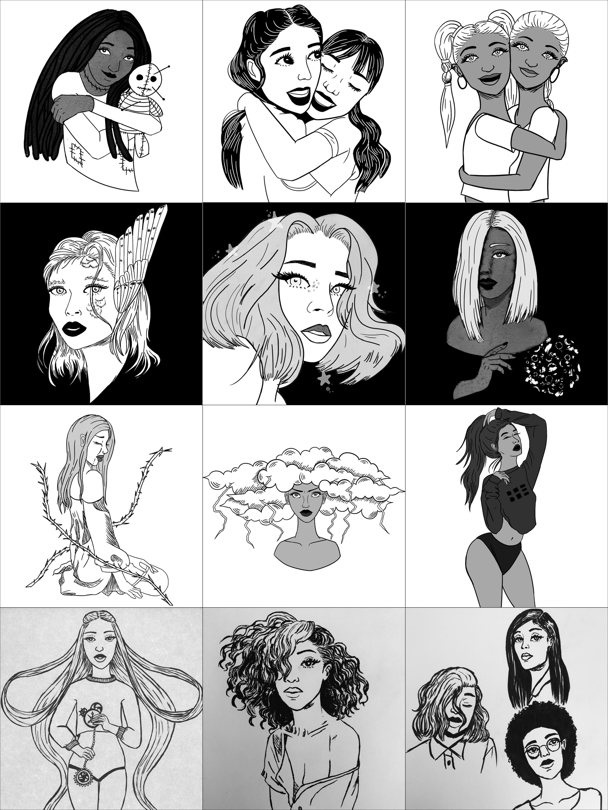 Inktober 2018 Illustrations