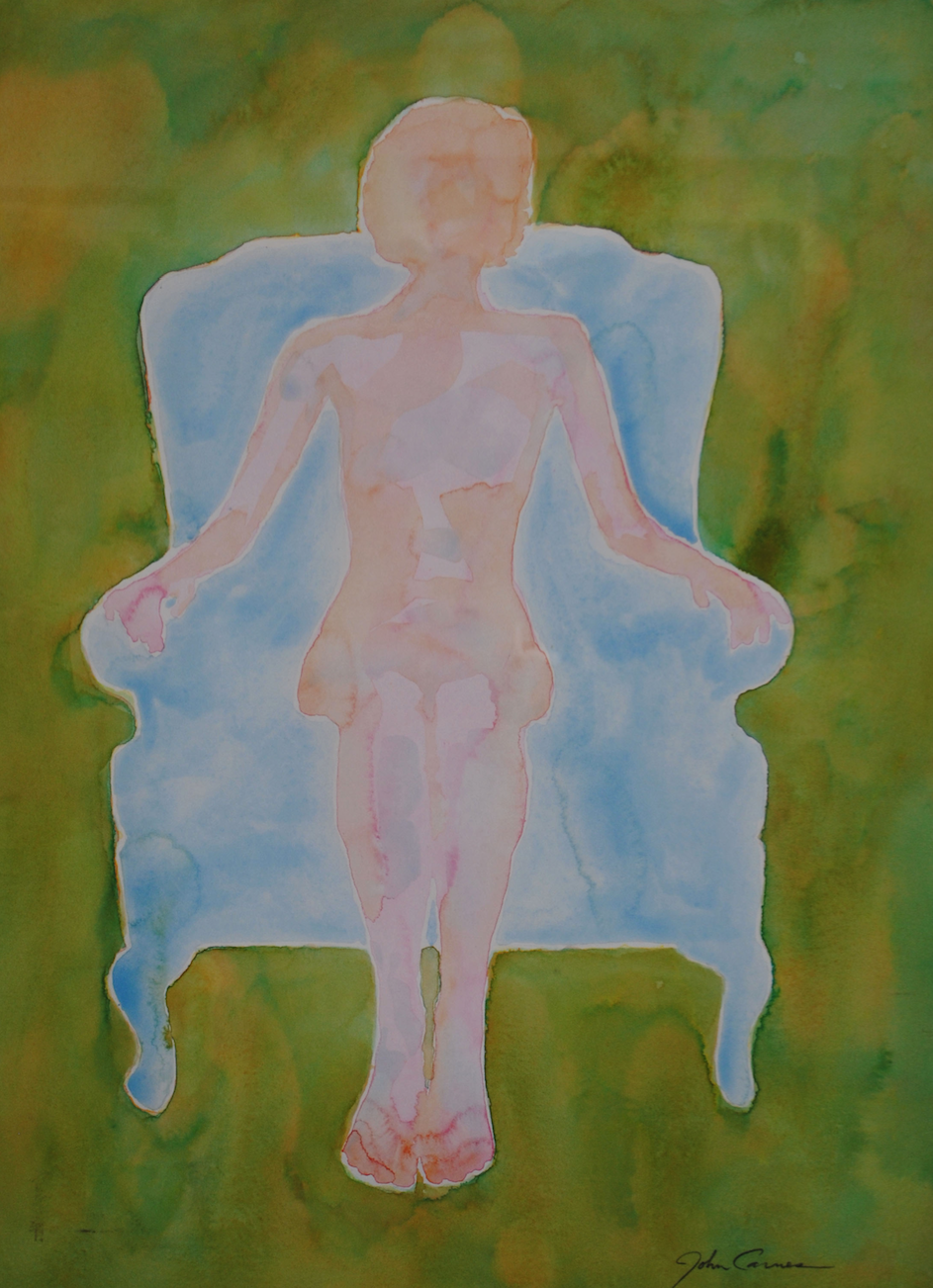 Woman in the Blue Chair